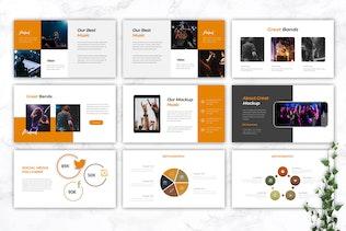 Миниатюра для MAKROCK - Шаблон ключевых заметок музыки