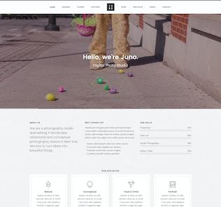 Juno - Photographie & Magazine Site Modèle