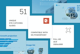 Thumbnail for Building Company PowerPoint Presentation Template