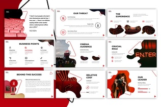 Red Bridge Cinema Powerpoint Template By Maghrib On Envato Elements