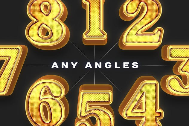 Shiny Gold Realistic 3D Text Effects