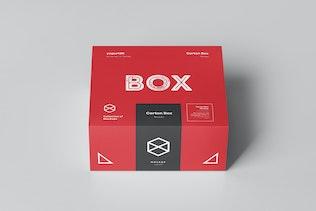 Thumbnail for Carton Box Mockup 95x85x42 & Wrapper