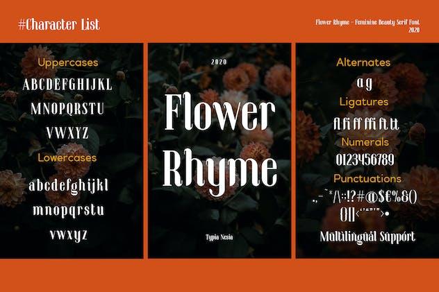 Flower Rhyme - Romantic Serif