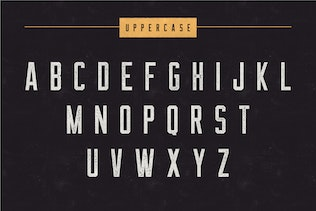 Thumbnail for The Farmer Font - Condensed Typeface