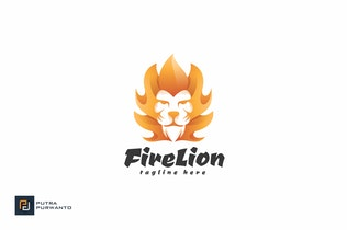 Thumbnail for Fire Lion - Logo Template