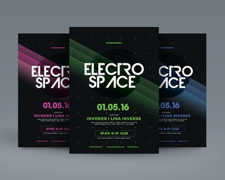 Thumbnail for Electro Space Sound Flyer