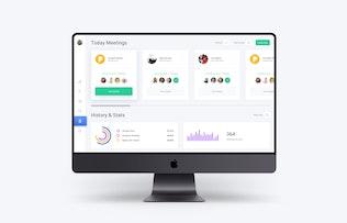 Thumbnail for Web Dashboard & Meeting UI Kit App Template 8