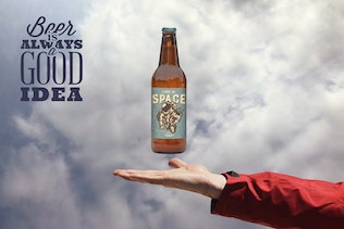 Thumbnail for Heavenly 50cl Beer Mockup