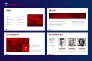 Thumbnail for Manufacturer - Keynote Template