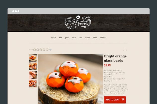 Craftista Tumblr Theme - product preview 1
