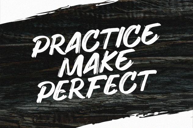 Hunger - Handwritten Brush Font - product preview 9