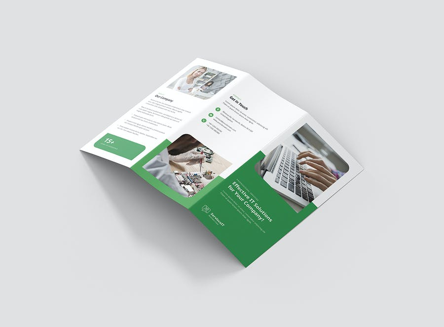 Brochure – IT Services Tri-Fold - product preview 3