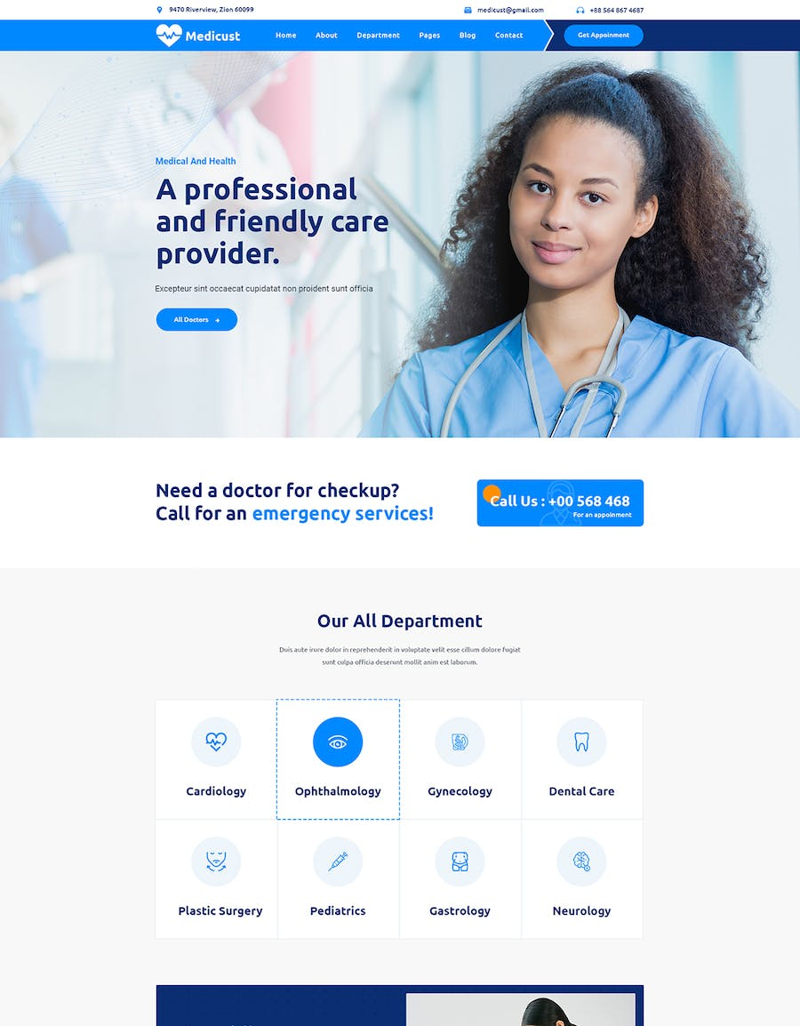 Medicust - Health and Medical HTML5 Template - product preview 6