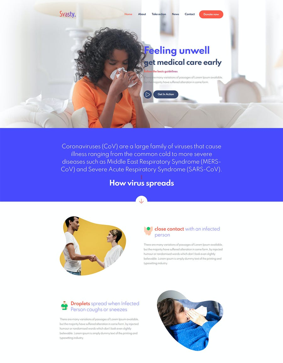 Svasty Healthcare Service Landing Page Template - product preview 1