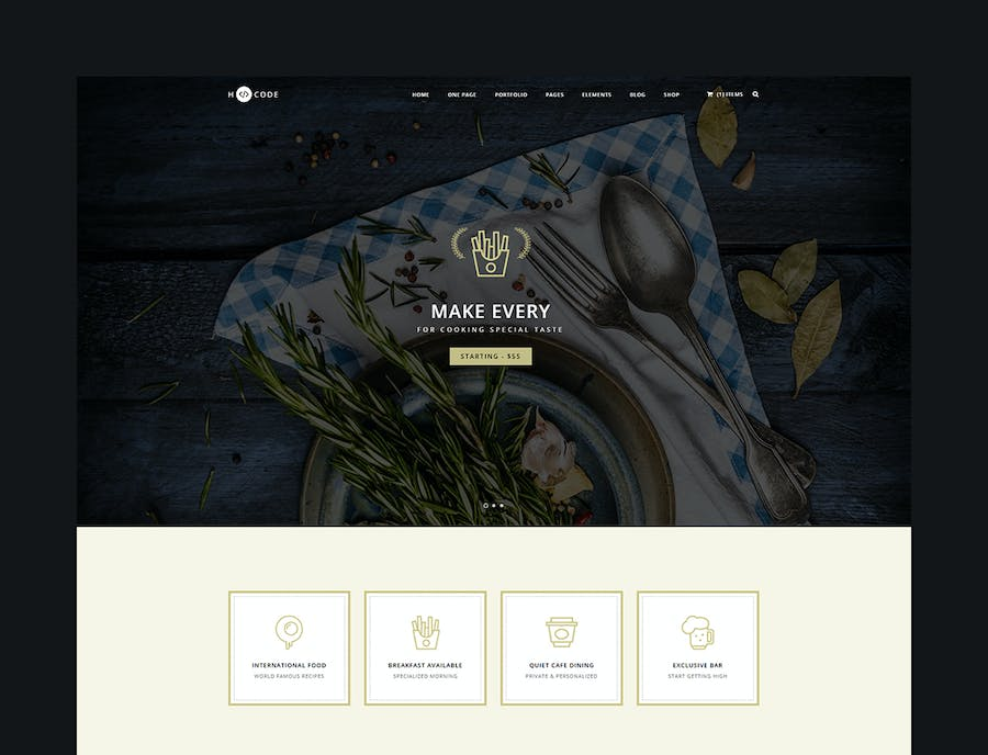 H-Code Multipurpose OnePage & Multi Page Template - product preview 2