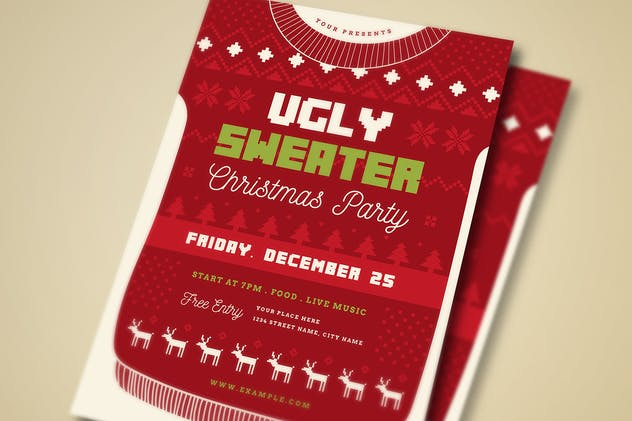 Ugly Sweater Christmas Party + Social Media - product preview 3