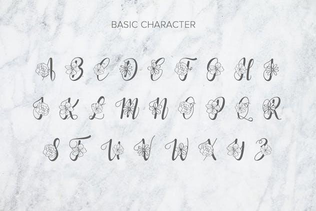 Flanela Monogram Font - product preview 4