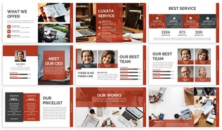 Thumbnail for Luxata - Biz Powerpoint Presentation Template
