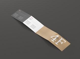 Thumbnail für 4-fach Broschüre Mockup - DIN A4 A5 A6 quer