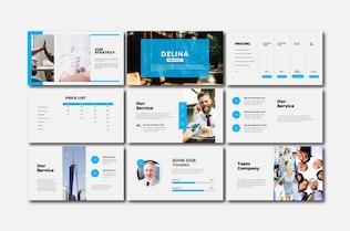 Thumbnail for Delina Business - Keynote Templates