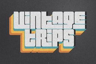 Thumbnail for 70s Retro Text Effects