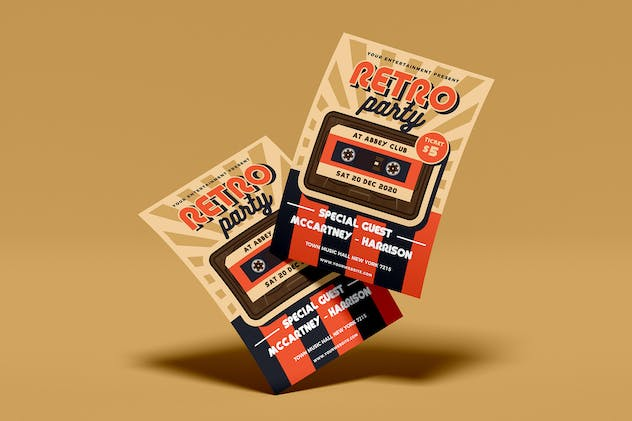 Retro Music Flyer Template Vol. 01 - product preview 2