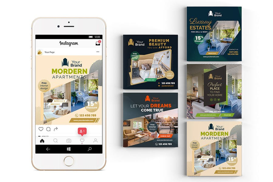 10 Social Media Banners - Real Estate - product preview 6