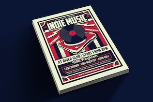 Indie Music Retro Flyer