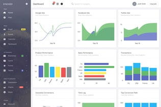 Thumbnail for Stacked - Bootstrap 4 Angular Admin Template