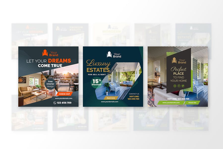 10 Social Media Banners - Real Estate - product preview 7