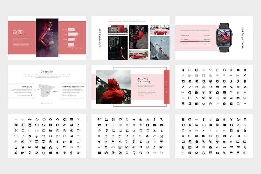 Revia : Red Gradient Color Tone Keynote - product preview 6