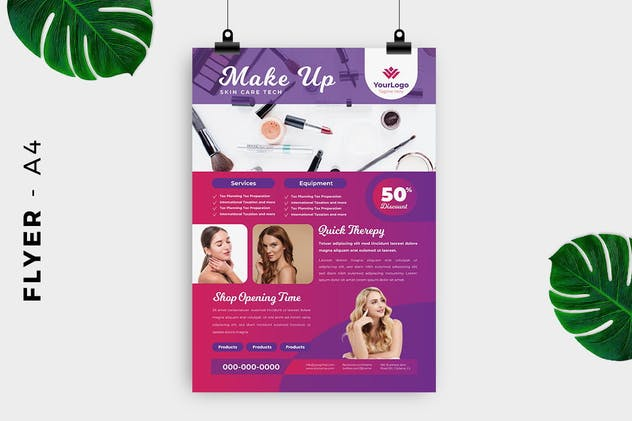 Make up / Skin care Flyer - product preview 1