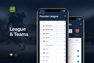 Thumbnail for Goal - Football Soccer Live Score UI Kit Template