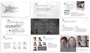 Thumbnail for Avedo - Business Keynote Template