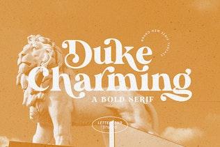 Duke Charming - Un Con serifa audaz único