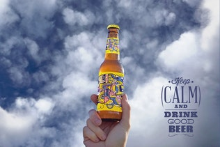 Thumbnail for Hand in the Sky Beer Mockup