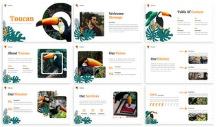 Thumbnail for Toucan - Tropical Keynote Template