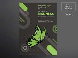 Thumbnail for Tropical Party Flyer and Poster Template