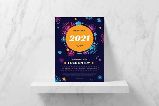Fireworks 2021 Flyer - product preview 1