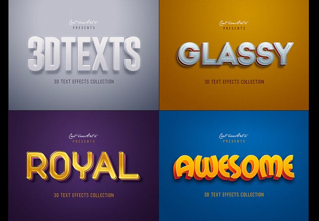 Retro Vintage 3D Text Effects - product preview 2