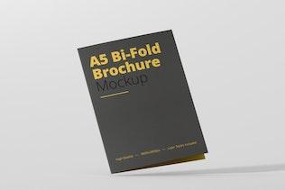 A4/ A5 Single Gate Fold Brochure Mockups by Wutip on Envato