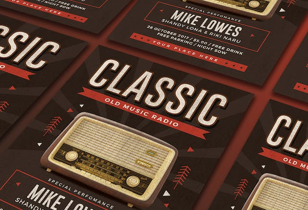 Classic Music Flyer - product preview 2