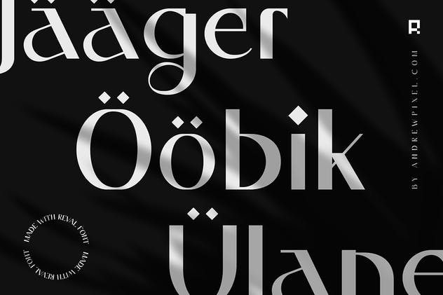 Reval - Modern Ligature Font - product preview 8