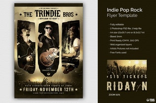 Thumbnail for Indie Pop Rock Flyer Template