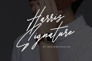 Thumbnail for Harris Signature Typeface