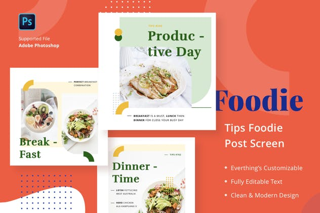 Foodie Tips - Feed Post - product preview 1