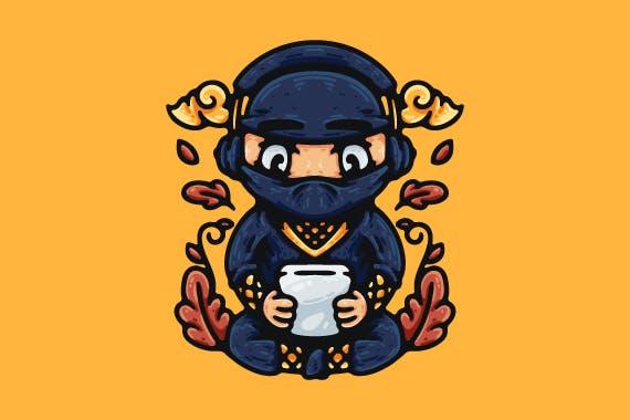 Ninja Playing Smartphone