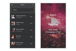 Thumbnail for Raag - Music Player UI Kit