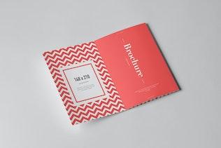 Four-Fold A5 Brochure Mock-up