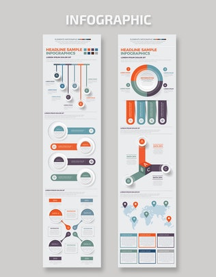 Дизайн больших элементов Инфографика